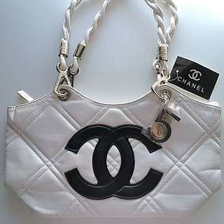 new white chanel tote bag