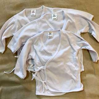 Bebe by So-en tie side longsleeves 0-3mos. (pack of 3)