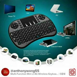 Mini i8 Wireless Keyboard 2.4GHz Air Mouse Remote Control Touchpad For Android TV Box Notebook Tablet Pc