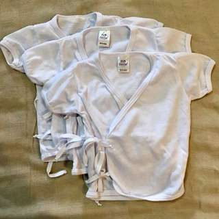 Bebe by So-en tie side shortsleeves, 0-3mos. (pack of 3)