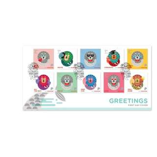 Singapore Stamp - Greeting FDC with stamps