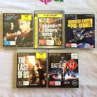 PS3 GAMES UP FOR SALE