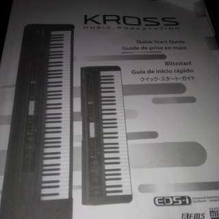 Korg Kross 88 key workstation