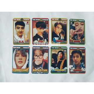 EXO THE POWER OF MUSIC duplicated PHOTOCARDS(8 pieces per set)
