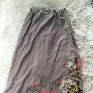 Comme Des Garcons grey long skirt Sz m