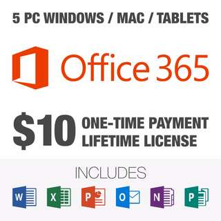 Microsoft Office 365 + Office 2016 (Genuine + Lifetime)