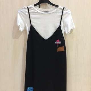 Zara dress sz S panjang 83cm