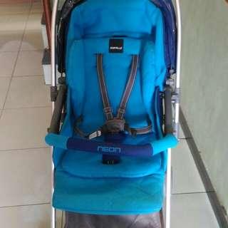 Babyelle baby stroller new citilite 2 S606 ligthweight biru