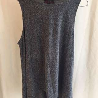Ally grey sleeveless top