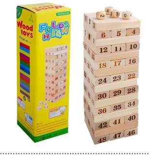 Jenga colored and number