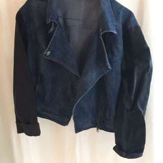 JayJays Half denim half faux leather jacket