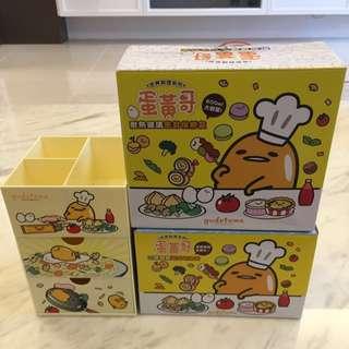 7-11集點購✨ 蛋黃哥世界料理系列 三層造型收納盒 「法式主廚麵款」 現貨可面交
