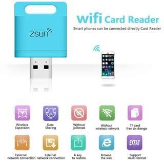 無線Wifi讀卡器 - 手機 平板 電腦 - Wireless Wifi Card Reader Extended Phone Memory - S1601