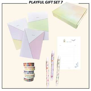 Playful Gift Set 7 (Holiday Gift Collection) / Christmas Gift / Anniversary Gift / Stationery Set / Lunarbay Get Set