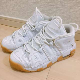 🚚 白色 Nike AIR MORE UPTEMPO white GUM 女球鞋