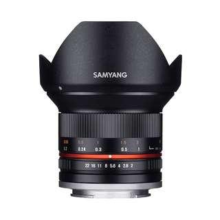 Samyang 12mm f2 NCS CS Lens (Canon EOS M, Fujifilm X, MFT, and Sony E Mount)