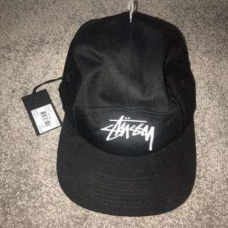 STUSSY Black/White 5 Panel Hat