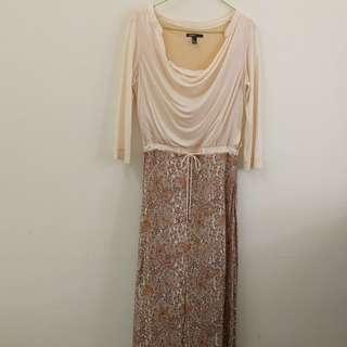 Mango paisley maxi dress