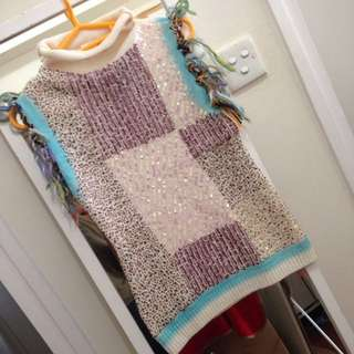 Stylish Designer Sequinned winter knit top