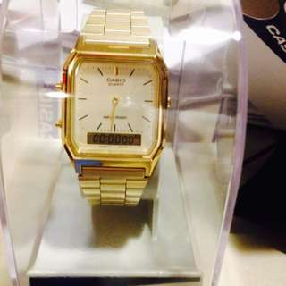 Casio Gold Vintage Watch AQ230 9DMQ
