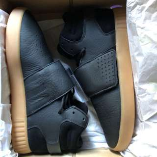 New Adidas Tubular Invader Strap Black