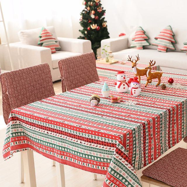 2016新款 聖誕節 桌布 茶几 圓桌 餐桌 餐墊 桌墊 茶巾 長方形餐墊 裝飾 聖誕節派對 禮物 佈置 居家
