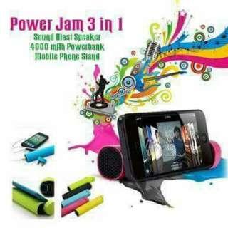 Power Jam 3 in 1 powerbank/cp stand/speaker