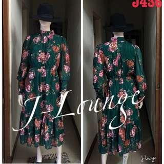 J436正韓女爵長洋裝連身裙上台主持作秀婚禮貴婦名媛J-Lounge dress