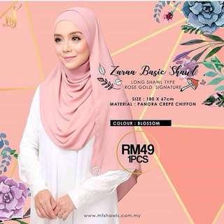 Mf shawls (zara basic shawl)