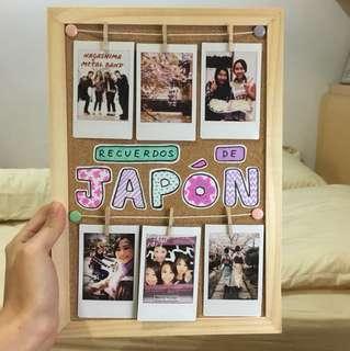 Custom Made Polaroid Corkboard Photo Frame