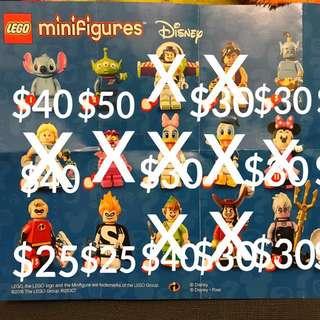 已更新 Lego Disney Minifigure 散買 只餘少量