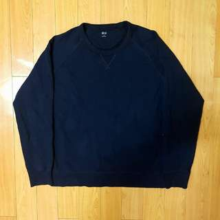 UNIQLO Blue Sweatshirt  Size: XL Men (asia) Material: Cotton Condition: 98% (very good condition)  Price 125.000 IDR FREE DELIVERY (Promo) DM for more information