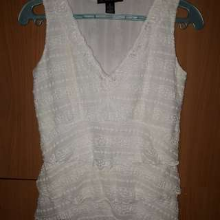 International concepts white sleeveless
