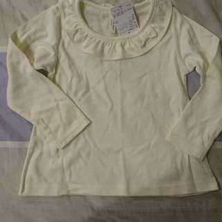 🚚 日本購入-兒童白上衣(100公分)