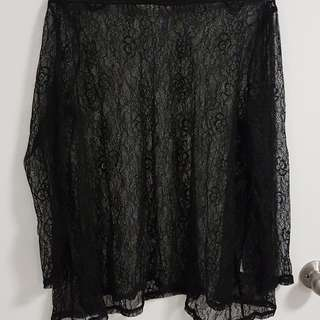 SUPRE XS Black Laced Top