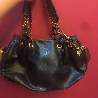 XOXO Black Bag with Chain