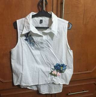 White sleeveless blouse from bangkok