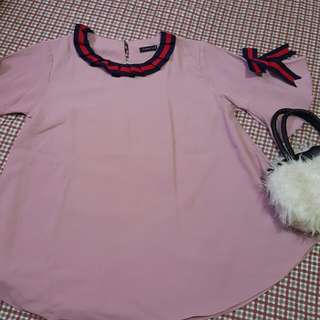 Blouse pink chic