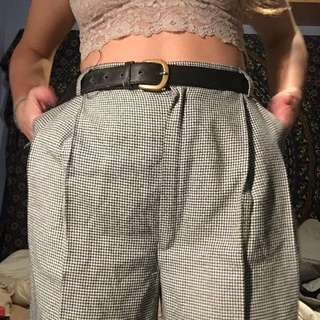 "Vintage pleated (28-31"" waist) high waist houndstooth pants"