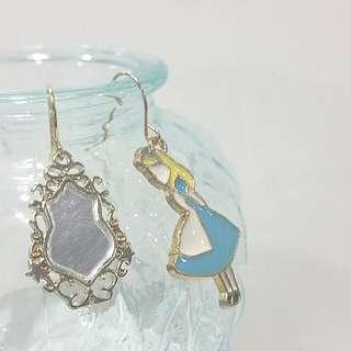 • Alice Through The Looking Glass • Handmade Earrings • Dangling • Asymmetrical