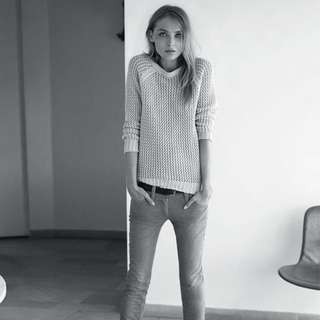ISABEL MARANT RITCHI OPEN-KNIT SWEATER