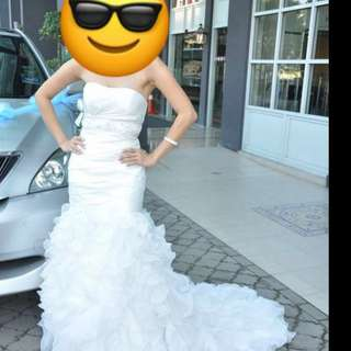 Vera wang ethel wedding gown Mermaid cut