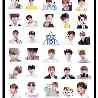 Wanna One sticker ( PREORDER )