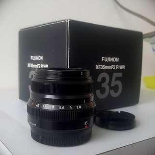 Fujifilm xf 35mm f2 r prime lens