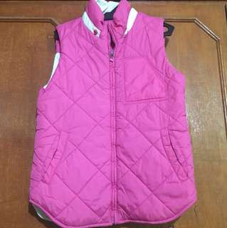 Pink sleeveless warmer