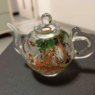 內畫玻璃茶壺-中國藝術家長風作品