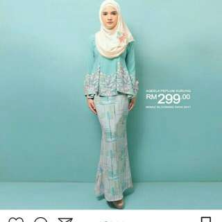 (REDUCED PRICE) MINAZ aqeela peplum kurung