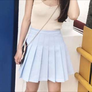 米藍色百褶裙