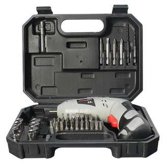 MAXGear LED Rechargeable Cordless Screwdriver Power Tool Drill Set