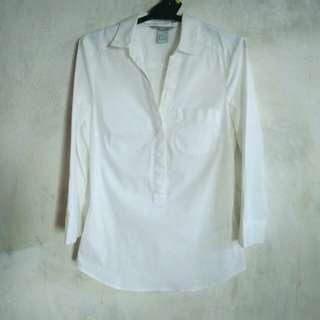 H&M White Shirt Top